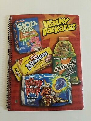 Wacky Packages Packs Wire Bound Theme Book Notebook Topps 8 x 101/2 60 Sheets #1