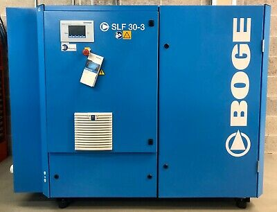 Boge SLF 30-3 Variable Speed Rotary Screw Compressor, 22Kw, 139Cfm! Low Hours!