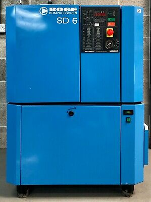 Boge SD6 Rotary Screw Compressor With Dryer 4.0Kw, 20Cfm, Immaculate!