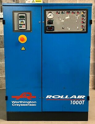 Worthington RLR1000T Rotary Screw Compressor With Dryer! 7.5Kw, 10Hp, 40Cfm!