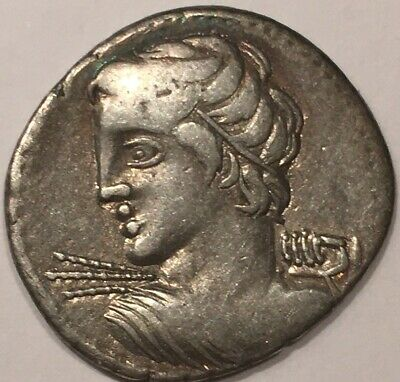 Roman Republic, 19mm, 4g, C Licinius Lf Macer Denarius, 84 BC