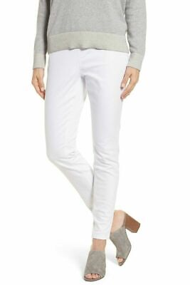 Eileen Fisher  Cotton Stretch Denim Pull On Jeggings /Skinny Pants  White   XS