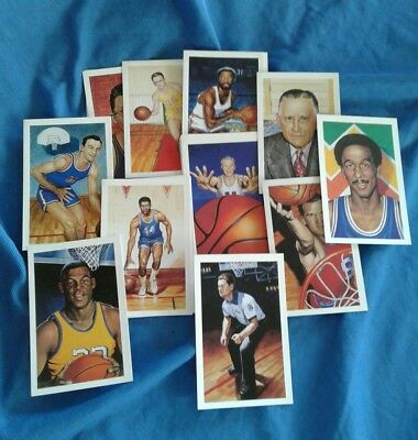 Postcard Lot Basketball Cards Art Set of 53 Ron Lewis Center Court #01687