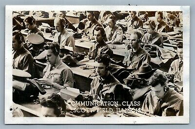 Scott Field Il Communication Class Vintage Real Photo Postcard Rppc