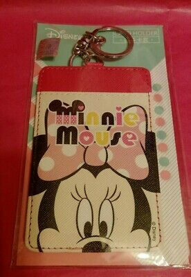 Disney Minnie Mouse ID Card Holder with key chain strap New