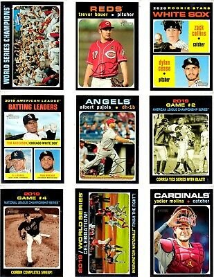 2020 Topps Heritage Complete Your Base Set (U pick 25 from available list))