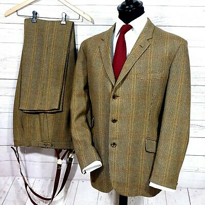 Vtg Bladen tweed Shooting hunting country suit jacket & trousers size 40R 34/32