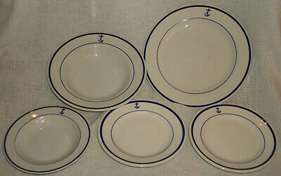 One Vintage China U.S. Navy Fouled Anchor place setting Dinner Plate bowl