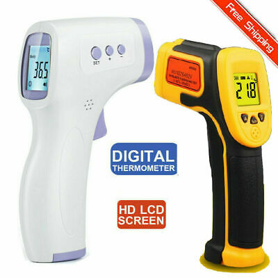 Non-contact LCD Digital Body Thermometer IR Infrared Forehead ℃ / ℉ Thermometric