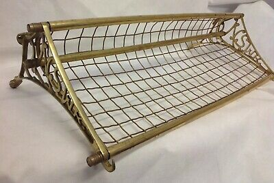 Vintage NSW Brass & Copper RAILWAY Luggage RACK