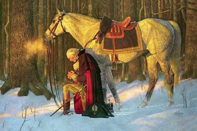 George Washington Prayer at Valley Forge by Friberg 12