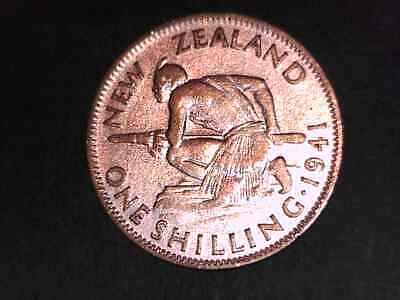 New Zealand  1941 Silver Shilling