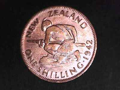 New Zealand  1942 Silver Shilling