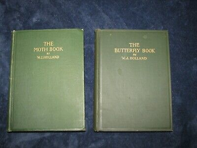 ON SALE The moth book and the butterfly book, w.j.holland.1903 & 1902 hard cov.