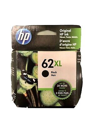 GENUINE HP 62XL Black Ink Cartridge C2P05AN EXP OCT 2021 new sealed