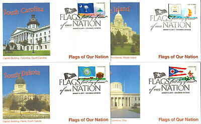 United States Scott 4313-4322 Forever Stamps Flags of Our Nation Coil Singles 20