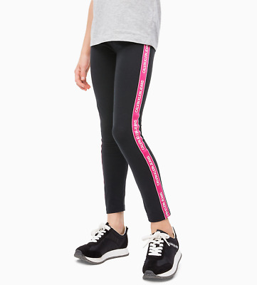 LEGGINS Ragazza CALVIN KLEIN IG0IG00093 GIRL LOGO 099 BLACK BEAUTY