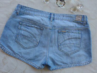 RIP CURL Distressed Pale Blue Denim Women's Shorts Size 14