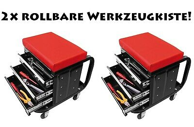 Tool Box Stool Stool Workshop Trolley with Drawers and Castor