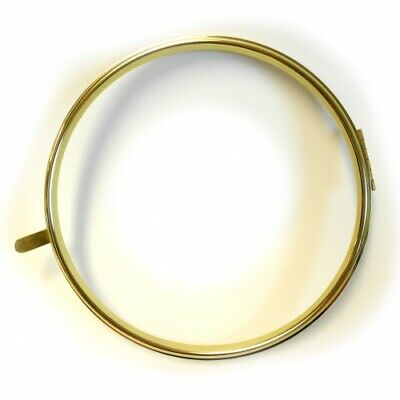 """Office Dial Hinged Clock Bezel with Rim 10"""" Spun Brass Replacement - CB1410"""