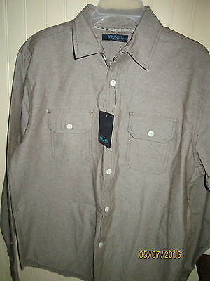 # Bruno  Mens Heavy Weight Shirt   Size M  Brown   Nwt