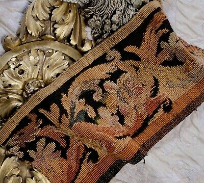 Antique French Aubusson Tapestry Panel 18th Century Textile