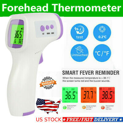 No Touch Infrared Digital Forehead Thermometer Baby Adult Body Temperature Gun U