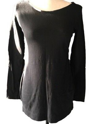 Motherhood Maternity Womens Black Long Sleeve Shirt Size Sm Decorative Buttons
