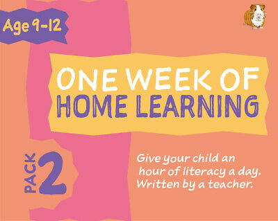 One Week Of Literacy Work For Home Learning (9-12years) Pack 2