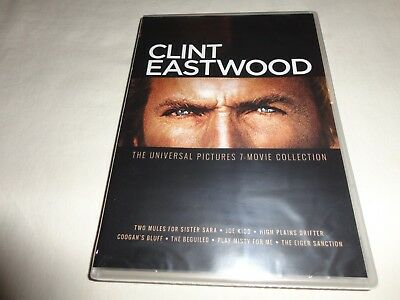Clint Eastwood Universal Pictures 7 Movie Collection  DVD New Sealed