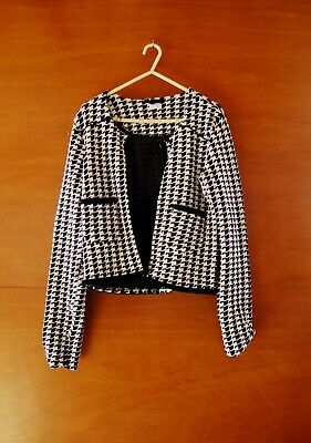 Next Black & White Very Smart Jacket Size 15 Years Old - Selling For Charity