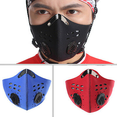 Anti PM 2.5 Dust Flue Bicycle Cycling Running Half Face Cover Protection Filter