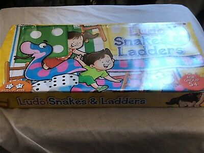 New Snakes & Ladders + Ludo Boxed Game Kid Fun Activity Family Traditional Gift