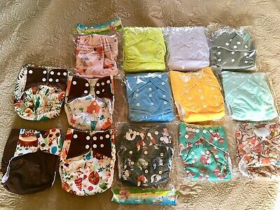 Cloth Diapers One Size Lot Of 14