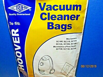 Hoover Micropower, Microspace  Pack of 5 dust bags. Electruepart BAG 159