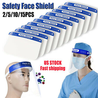 Safety Full Face Shield Clear Transparent Protector AntiFog Work Industry Dental
