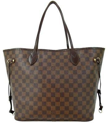 Louis Vuitton Neverfull Mm Damier Ebene Brown Canvas Tote