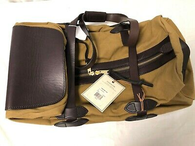 Filson Leather & Tin Cloth Rolling Travel Bag / Luggage / Duffle