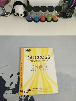 (VERY GOOD) 11+ English Age 10-11: 10-Minute Tests (Letts Key Stage 2 Success)