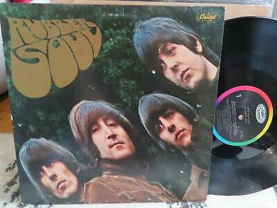The Beatles Rubber Soul 1983 Capitol Reissue (Sw-2442) Rainbow Nice Vg Lp Rare