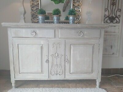 French, grey, rustic, distressed sideboard /dresser