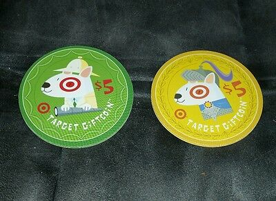 TARGET GIFT CARD NO CASH VALUE COIN COLLECTIBLE ONLY - lot of two