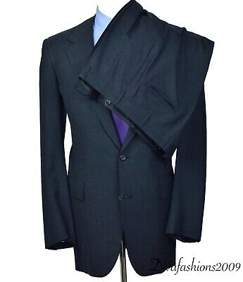 Vtg Brooks Brothers Mens 2pc Charcoal Gray Suit Jacket 42-XL Pleaded Pants 36x33