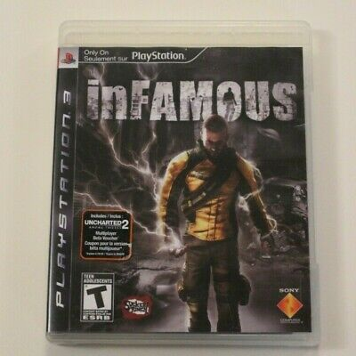 Infamous Sony PlayStation 3, PS3 Good Condition Tested