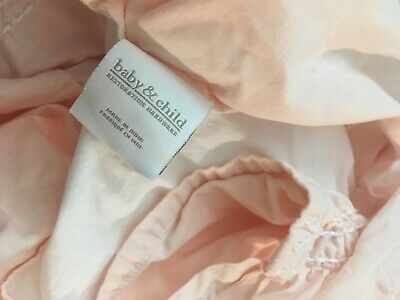 Restoration Hardware Baby Bedding Crib Skirt Sheet Girl Fitted Changing Organic