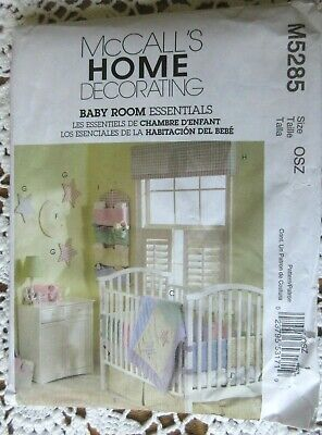 New McCall's Baby Room Essentials Pattern M5285 Home Decorating Multiple Items