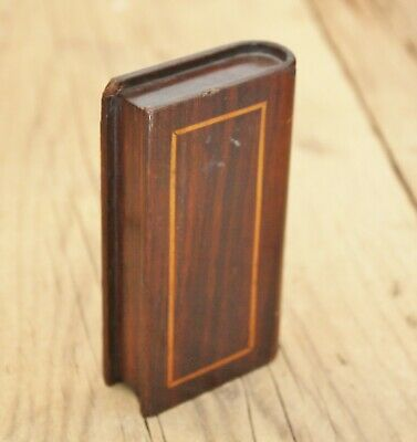19th Century CARVED WOODEN BOOK  as a BIBLE Naive Folkart Snuff !.