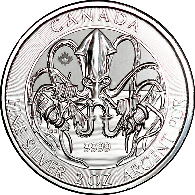 2020 Canada Creatures of the North The Kraken 2 oz. Silver .9999 Fine