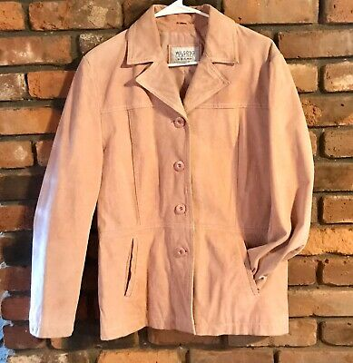 Vintage Wilsons Leather Maxima Genuine Leather Jacket Pink Women XL