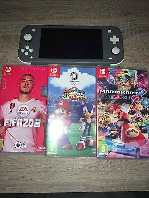 Nintendo Switch Lite Console Bundle 3 Games & Charger used twice Fifa20, Mario+